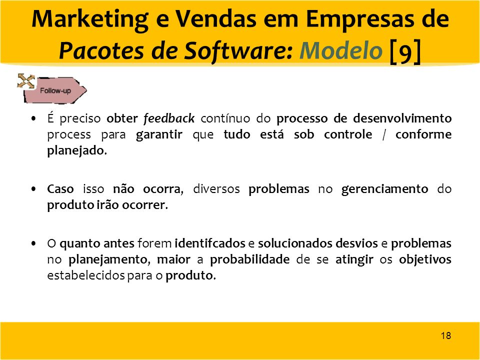 Marketing e Vendas em Empresas de Pacotes de Software: Modelo [9]